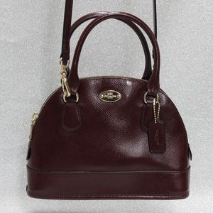 Vintage Coach Burgandy Crossbody Handbag